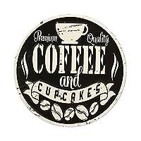 ブリキ看板 アンティークエンボスプレート [ダイカット Coffee Black]