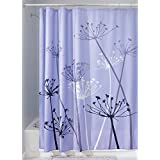 InterDesign Botanical Poly Fabric Shower Curtain