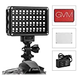 GVM LEDビデオライトスタジオ撮影ライトパネルディムマブルRGB CRI 97+ 2000K-5600Kデジタルカメラ/ビデオカメラ用超薄型二色性リチウム電池付きDSLR