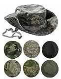 タクティカル キャップ ハット 迷彩 ブーニーハット ジャングル 帽子 サバゲー 装備 (ACU迷彩)