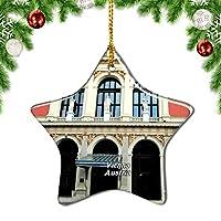 Weekinoオーストリアウィーンフィルハーモニー管弦楽団クリスマスデコレーションオーナメントクリスマスツリーペンダントデコレーションシティトラベルお土産コレクション磁器3インチ