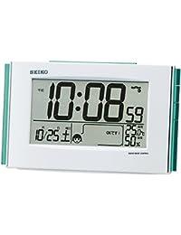 セイコー クロック 目覚まし時計 快適環境NAVI 電波 デジタル カレンダー 温度 湿度 表示 白 パール SQ776W SEIKO