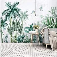 Xbwy カスタム壁画壁紙3D手描き熱帯雨林植物風景壁画リビングルーム-350X250Cm