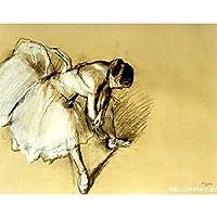 ドガ 「靴下をなおす踊り子」 原画同縮尺近似(10号) (世界の名画PREHARDデジタグラフ)G-オペラゴールド