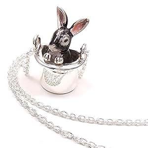 [アンティエーレ] entiere ネックレス ペンダント レディース シルバー925 帽子 ウサギ グレー