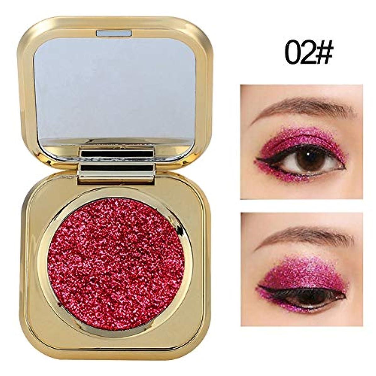 6色アイシャドウパレット アイシャドウパレット 化粧マット グロス アイシャドウパウダー 化粧品ツール (02)