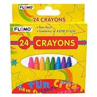 90x8mm 24pc Crayons ( School Supplies )