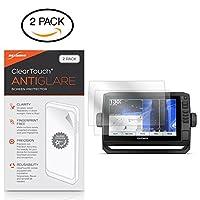 Garmin echoMAP Plus 93svスクリーンプロテクター、BoxWave [ ClearTouchアンチグレア2- Pack]指紋防止マットフィルムスキンfor Garmin echoMAP Plus 93sv