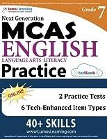 MCAS Test Prep: Grade 7 English Language Arts Literacy (ELA) Practice Workbook and Full-length Online Assessments: Next Generation Massachusetts Comprehensive Assessment System Study Guide [並行輸入品]