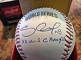 署名署名付き内接2014ワールドシリーズ野球3xパブロ・サンドバルWorld Series Champs WP JSA認定Autographed MLB