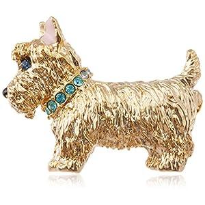 [ヴァンドーム ブティック] VENDOME BOUTIQUE ミニチュア シュナウザー 犬 スワロフスキー クリスタル ブローチ タックピン ブローチ VBRV7559 AU