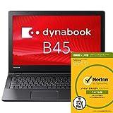 ノートンセキュリティ1年付き 東芝 dynabook B45/A PB45ANAD4RDAD81 Windows7 Pro 32/64Bit Celeron HDD500GB メモリ4GB DVDスーパーマルチドライブ 高速無線LAN IEEE802.11ac/a/b/g/n Bluetooth 10キー付キーボード バッテリー長持ち最大約8時間 15.6型LED液晶搭載ノートパソコン Win10 Proリカバリメディア付でOS入替え可