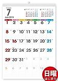 ボーナス付 2018年7月~(2019年7月付) タテ長ファミリー壁掛けカレンダー 太字タイプ(六曜入) A3サイズ[H]