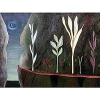 Blasingame Symbolist Landscape Pali Road Moonlight Painting Large Print Poster Wall Art Decor Picture 景観月ペインティングポスター壁デコ画像