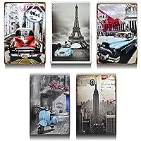 MIRAIS クラシカルプレート 5種類セット 壁掛け 大人 インテリア 世界 車 おしゃれ アート 絵画 コンパクト 部屋 MR-CLASPLATE
