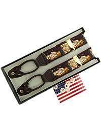 サスペンダー ブレイス Brace ボタン止め 米国製 稀少ビンテージ品 ヴィーナス Venus Y型 Yバック メンズ 紳士 USA B017