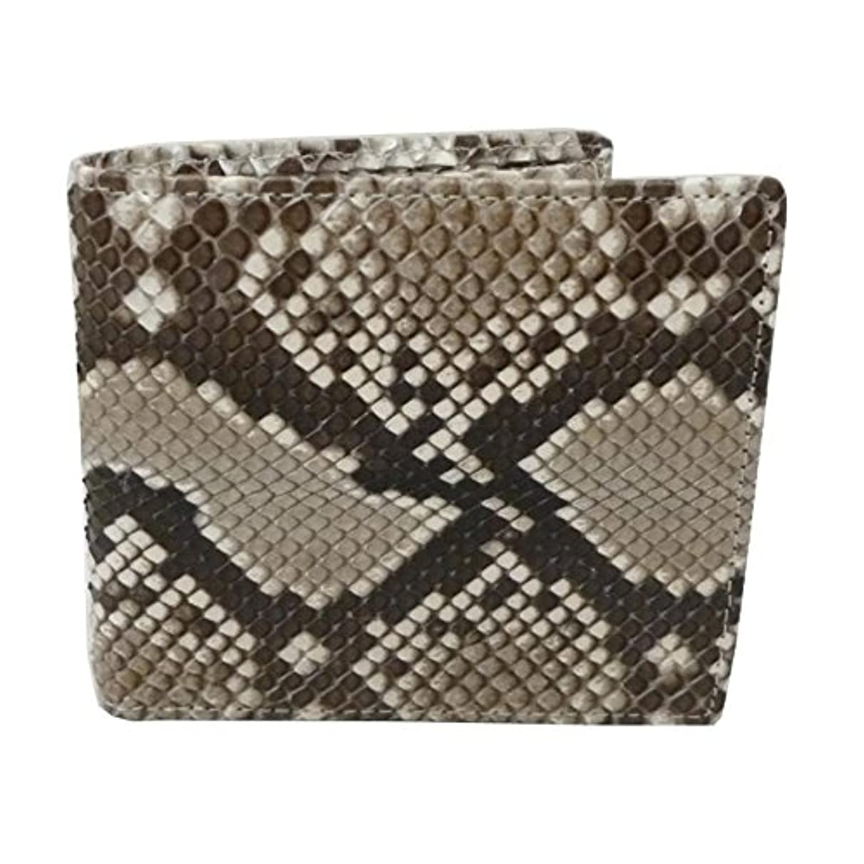 数学的なレンチ大使蛇革パイソン 両面蛇革 財布/艶有 二つ折り 財布(161)