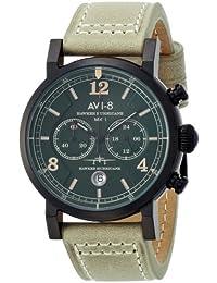 [アヴィエイト]AVI-8 腕時計 ホーカー・ハリケーン カーキ文字盤 ステンレス(BKPVD)ケース AV-4015-04 メンズ 【正規輸入品】