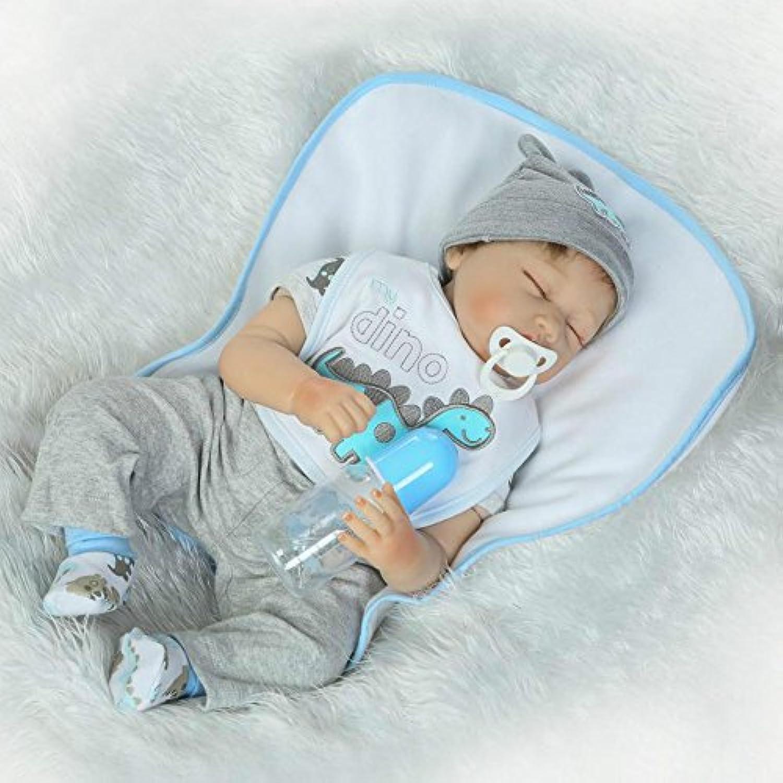 Sleeping Boy Rebornベビー人形ソフトビニール新生児シリコンおもちゃ22インチマグネットダミーfor Kids Children