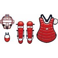 少年軟式野球 キャッチャー防具4点セット(限定品) 専用ケース付 J.S.B.B公認 [カラー:レッド×ネイビー] #BL716-6429