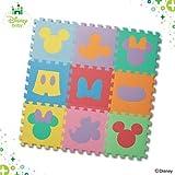 西松屋 デザインマット ミッキーマウス&ミニーマウス(カラー)9枚入り[ジョイントマット]
