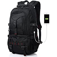Fashion Laptop Backpack Contains Multi-Function Pockets, Tocode Durable Travel Backpack with USB Charging Port Stylish Anti-Theft School Bag Fits 17.3 Inch Laptop Comfort Pack for Women & Men-Black I