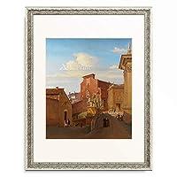 ウィルヘルム・ブリュッケ Johann Wilhelm Brücke 「View of the Capitoline, Rome. 1835」 額装アート作品