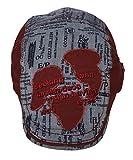 (ウォ2U)Woo2u キッズ 男の子 子供 春夏 紫外線 ハンチング帽子 スポーツデニム キャップ サンバイザー 野球帽 日焼け防止 鳥打ち帽 赤色