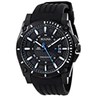 Bulova ブローバ メンズ 腕時計98B142 Precisionist Champlain Black Dial Rubber Strap Watch【並行輸入品】