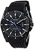 Bulova ブローバ メンズ 腕時計98B142 Precisionist Champlain Black Dial Rubber Strap Watch【並行輸入品】