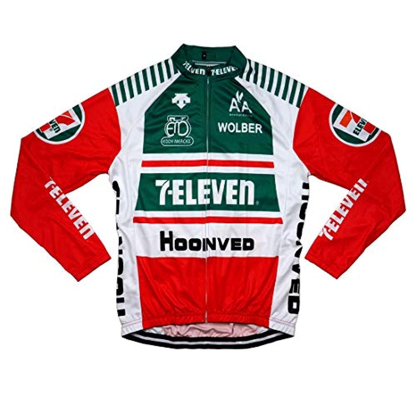 信者ぼろ接尾辞サイクルジャージ レトロデザイン 長袖 No6 メンズ クールマックス仕様 自転車 MTB サイクリング ロードバイク ロング