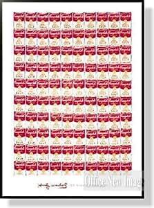 アンディ ウォーホル One Hundred Cans/ 1962 【ポスター+フレーム】91x65cm ブラック