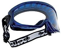 BolléBLFAPSIセーフティゴーグルブラスト通気性フォーム、ブルー/ブラック、ワンサイズ