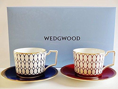ウエッジウッド ルネッサンスゴールド&レッド カップ&ソーサーペア(ペアブランドボックス付き) [並行輸入品]