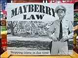 アメリカンブリキ看板 メイベリー110番 法律 (こちらの商品の内訳は『3点』のみ)