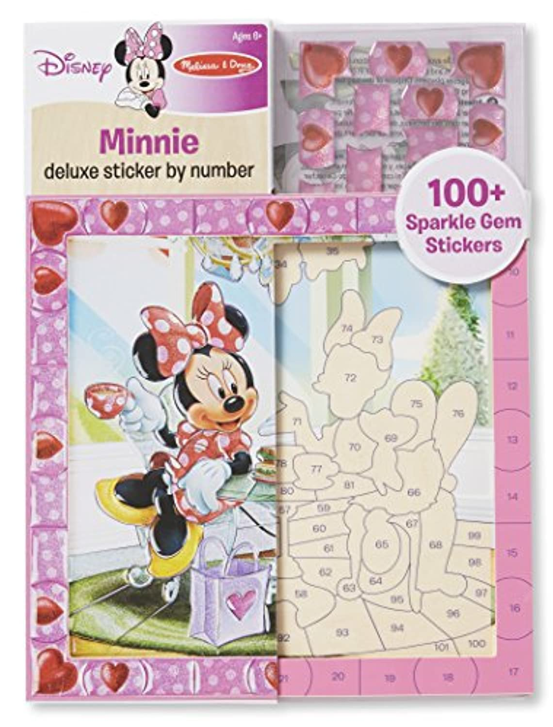 Melissa & Doug Disney Minnie Mouse and Daisy Duck Deluxe Sticker by Numberアクティビティキット