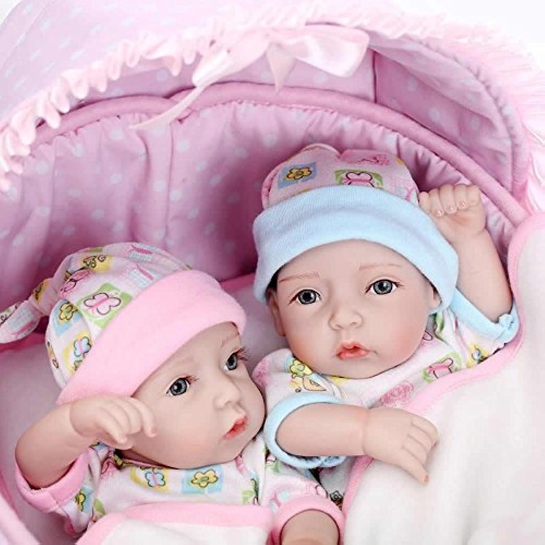 値スポーツNPK 11インチLittle PeanutツインフルシリコンRealistic Rebornベビー人形Lifelike Boy and Girl Babies人形キッズ誕生日ギフト