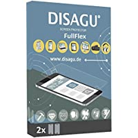 2 x Disagu FullFlex Panasonic Lumix DMC-FT3対応 汚れ防止画面プロテクター(ディスプレイの曲面にもきれいにフィットします)