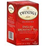 Twinings English Breakfast Tea Bags 20ct (パックof 6) WLM