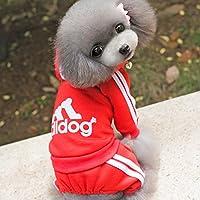 【adidog】【アディドッグ】犬用 つなぎパーカー 犬服 ドッグウェア サイズ XS/S/M/L/XL/XXL 6COLORS S,レッド レッド,S