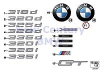 純正Bmw f34Gran Turismo BMWエンブレムバッジクロームOEM 51147301062