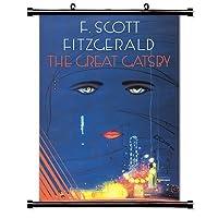 "uniquelover The Great Gatsby (フィッツジェラルド)アニメファブリック壁スクロールポスター16"" x24""インチ"