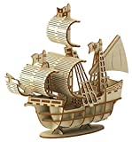 Wooden Art ki-gu-mi 帆船