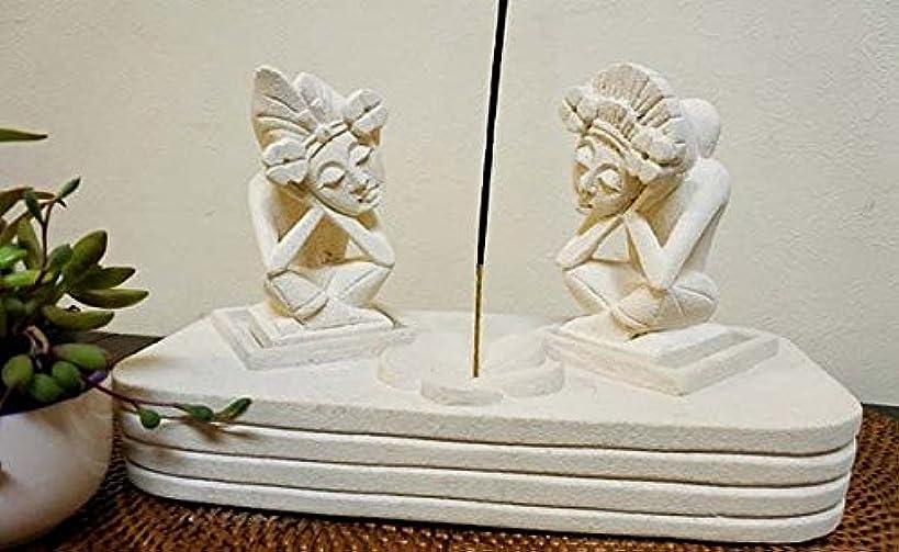 葉を集める煙突伝記アジアン バリ 雑貨 ♪お祈りお香立て(バリ)♪ おしゃれ インテリア エスニック 石製 オブジェ 小物