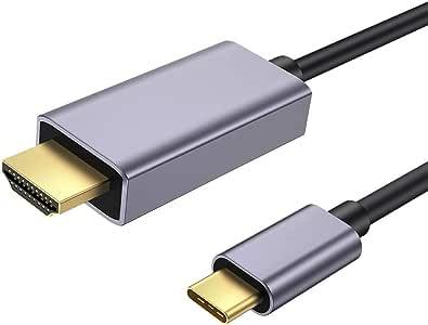 USB C to HDMI ケーブル, zedela USB Type C HDMI ケーブルア変換ダプタ(1.8M)携帯とテレビをつなぐケーブル【4K@60Hz対応】Thunderbolt 3 iMac、MacBook Pro/Air (2019-2016)、iPad Pro 2019/2018 、Samsung Galaxy S10 Pro/S9+ /S8+ ,Type-C機器対応USB-C HDMI変換ケーブル