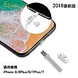 【2個入り】ElekFX 2018最新版iPhone X/8Plus/8/7Plus/7用 ステレオLightningコネクタキャップ アルミ製 超耐久性 SIMカード取出機能付き 携帯便利 超薄型 防塵 防水 防砂 ダストブラシ付き(銀)