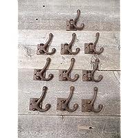 10 鋳鉄コート壁フック ダブルラスティック回転式ハットラック ホールツリー プリミティブ LO