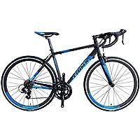 TRINX(トリンクス) 【ロードバイク】デュアルコントロールモデル ShimanoTourney シマノ14Speed 軽量 アルミフレーム700C TEMPO2.0 ロードバイクエントリーモデル 3サイズ4カラーバリエーション TEMPO2.0 ブラック/ブルー 540mm