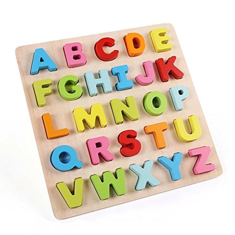 積み木 知育玩具 木のおもちゃ お祝いプレゼント子供おもちゃ 形合わせ はめこみ パズル 幾何学認知 (アラビア数字)