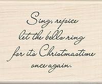Inkadinkado クリスマス マウント スタンプ Let の鐘の音